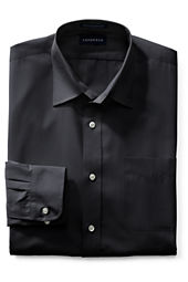 Men's Long Sleeve Straight Collar Broadcloth Shirt