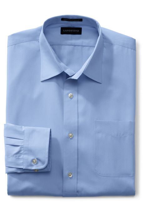 Men's Tall Long Sleeve Straight Collar Broadcloth Dress Shirt