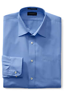 Men's Big and Tall Long Sleeve Straight Collar Broadcloth Dress Shirt, Front
