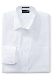 School Uniform Men's Big Long Sleeve Straight Collar Broadcloth Dress Shirt