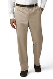 Men's Blended Elastic Waist Chino Pants