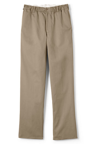 Men's Blended Elastic Waist Chino Pants from Lands' End