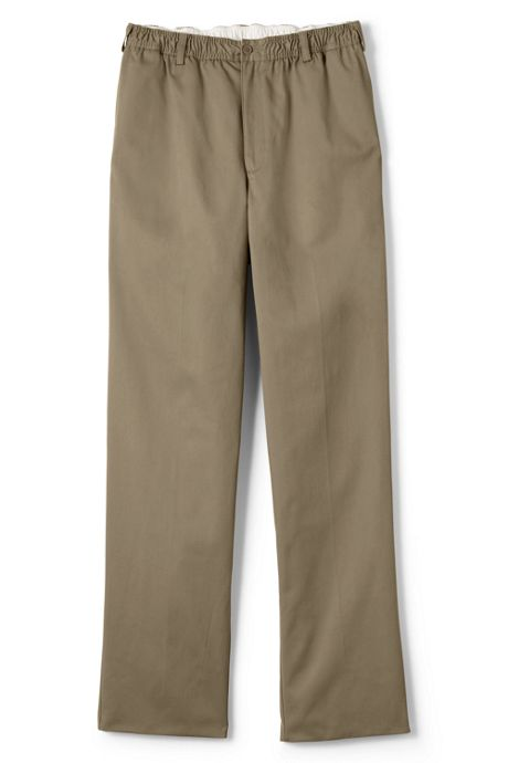 School Uniform Men's Elastic Waist Blend Chino Pants