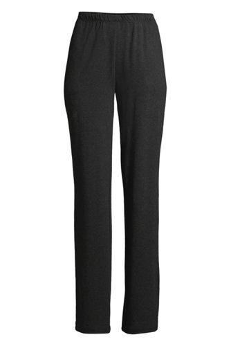Women's Sport Knit High Rise Elastic Waist Pull On Pants