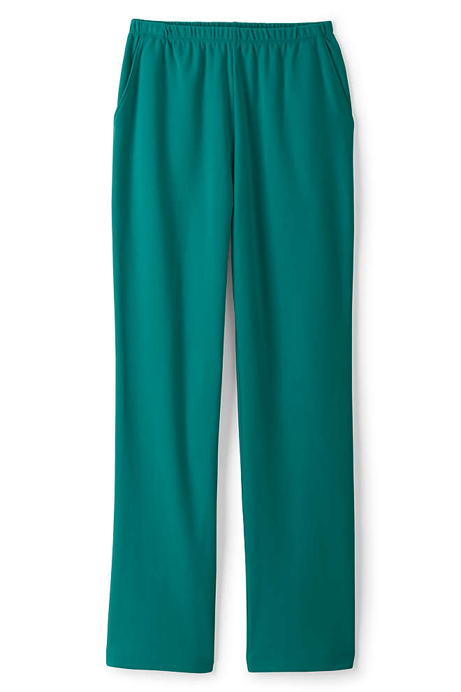 Women's Tall Sport Knit High Rise Elastic Waist Pull On Pants, Front