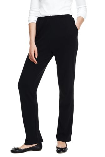 Womens Black Knit Pants PY44XcuO