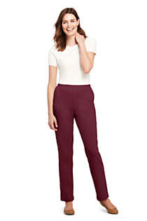 Women's Sport Knit High Rise Elastic Waist Pull On Pants, Unknown