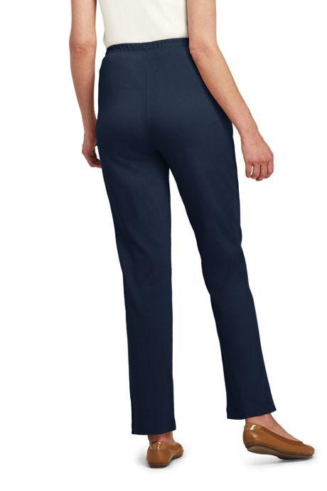 Women's Sport Knit Elastic Waist Pants High Rise