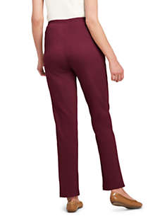 Women's Sport Knit High Rise Elastic Waist Pull On Pants, Back