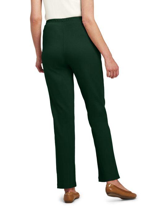 Women's Tall Sport Knit Elastic Waist Pants High Rise