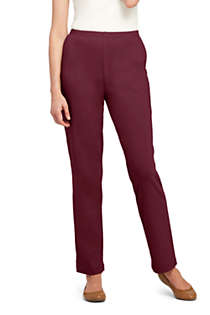 Women's Sport Knit High Rise Elastic Waist Pull On Pants, Front