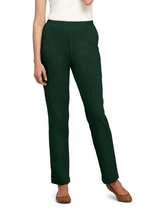 Women's Sport Knit Elastic Waist Pants High Rise