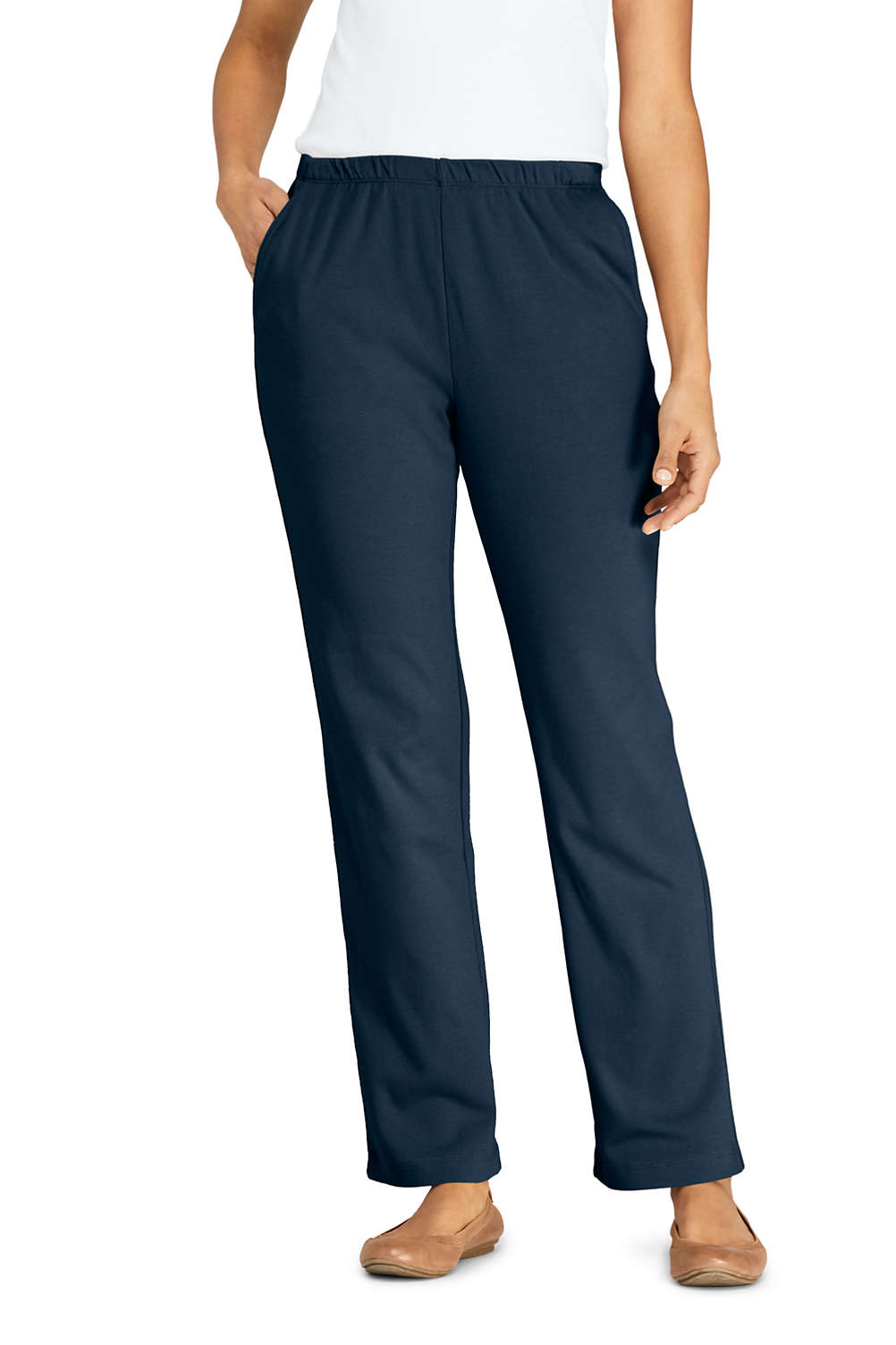 f5339a4c499 Women's Sport Knit High Rise Elastic Waist Pull On Pants from Lands' End