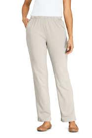 Women's Petite Sport Knit High Rise Elastic Waist Pull On Pants