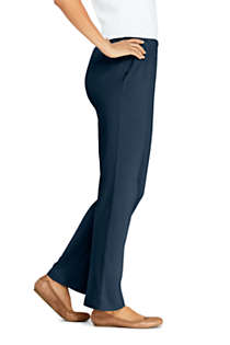 Women's Petite Sport Knit High Rise Elastic Waist Pull On Pants, Unknown