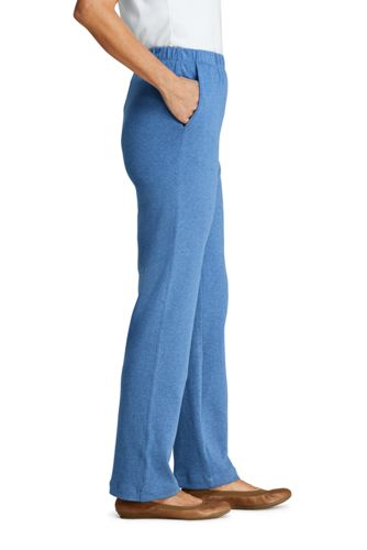 Women's Tall Sport Knit High Rise Elastic Waist Pull On Pants