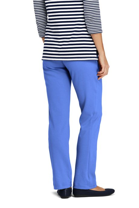 Women's Tall Sport Knit Elastic Waist Pants High Rise