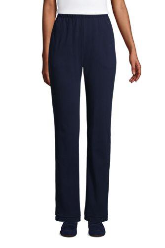 Le Pantalon en Coton Jersey Femme, Haute Stature