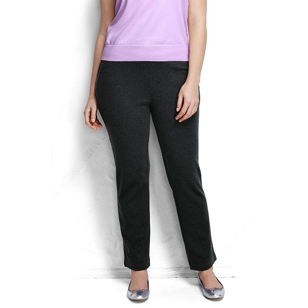 Lands' End Women's Plus Size Petite Sport Knit Pants