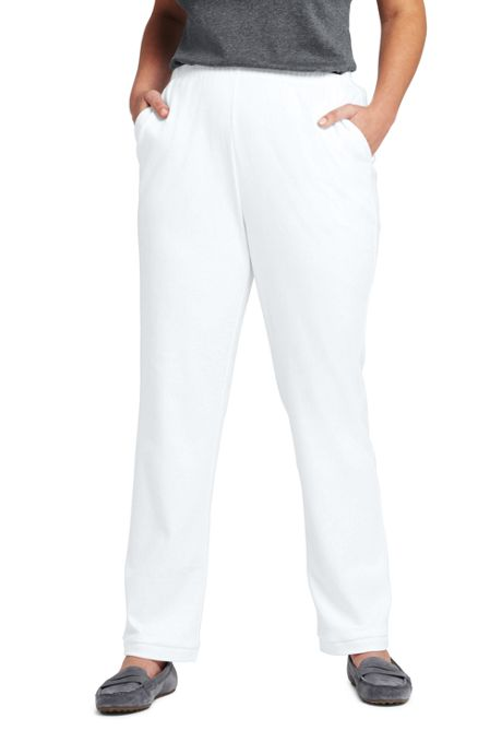 97d312c3b2089 Women s Plus Size Petite Sport Knit Elastic Waist Pants High Rise ...