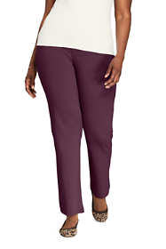 Women's Plus Size Sport Knit High Rise Elastic Waist Pull On Pants