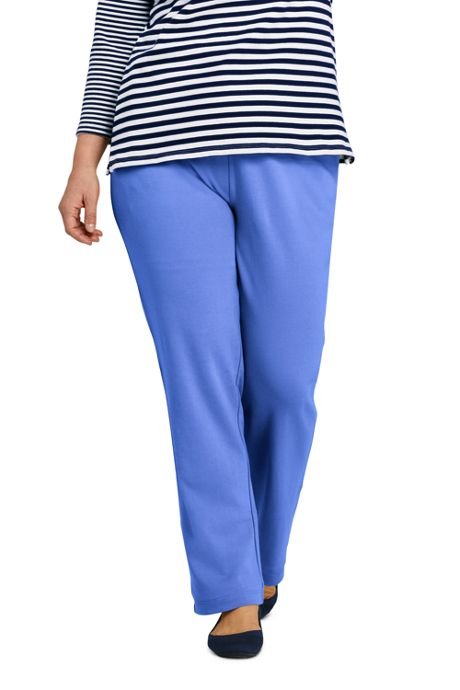 977e90e9776 Women s Plus Size Starfish Straight Leg Elastic Waist Pants Mid Rise ...