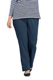 Women's Plus Size Sport Knit  Elastic Waist Pants High Rise
