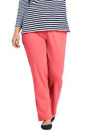 Women's Plus Size Sport Knit  Elastic Waist Pants High Rise