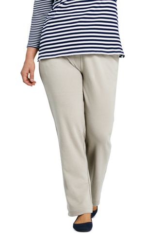 82af4986336 Women s Plus Size Sport Knit Elastic Waist Pants High Rise from Lands  End