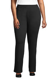 Women's Plus Size Petite Sport Knit High Rise Elastic Waist Pull On Pants