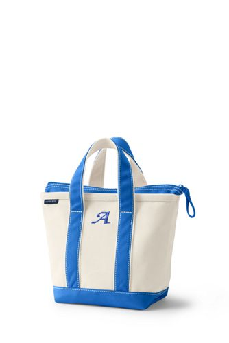 Small Zip Top Canvas Tote Bag