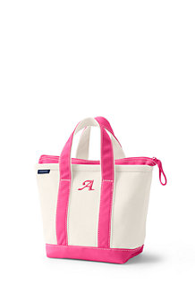 Small Zip Top Canvas Tote Shopper