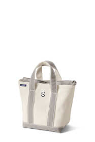 Small Natural Zip Top Canvas Tote Bag