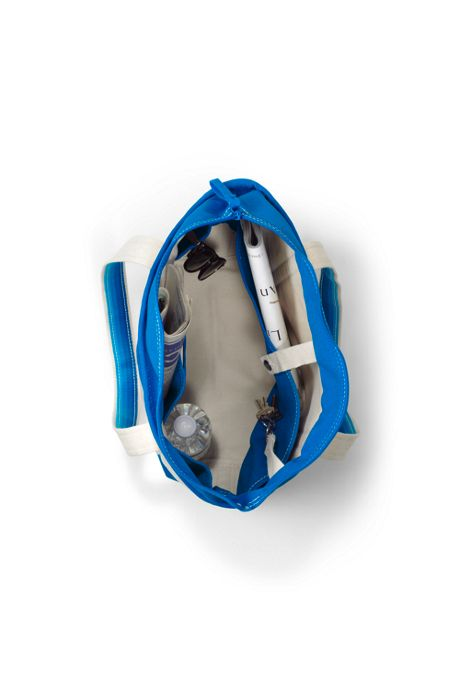 Medium Natural Zip Top Canvas Tote Bag