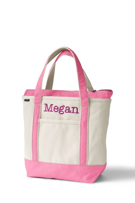 Medium Natural Zip Top Canvas Tote Bag