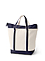 Large Zip Top Canvas Tote Bag