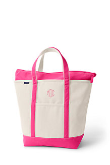 Large Zip Top Canvas Tote Shopper
