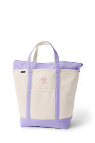 Large Natural Zip Top Canvas Tote Bag