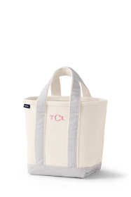 School Uniform Small Natural Open Top Canvas Tote Bag