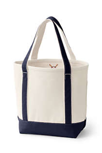 Medium Natural Open Top Canvas Tote Bag, Back