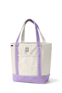 Medium Open Top Canvas Tote Bag