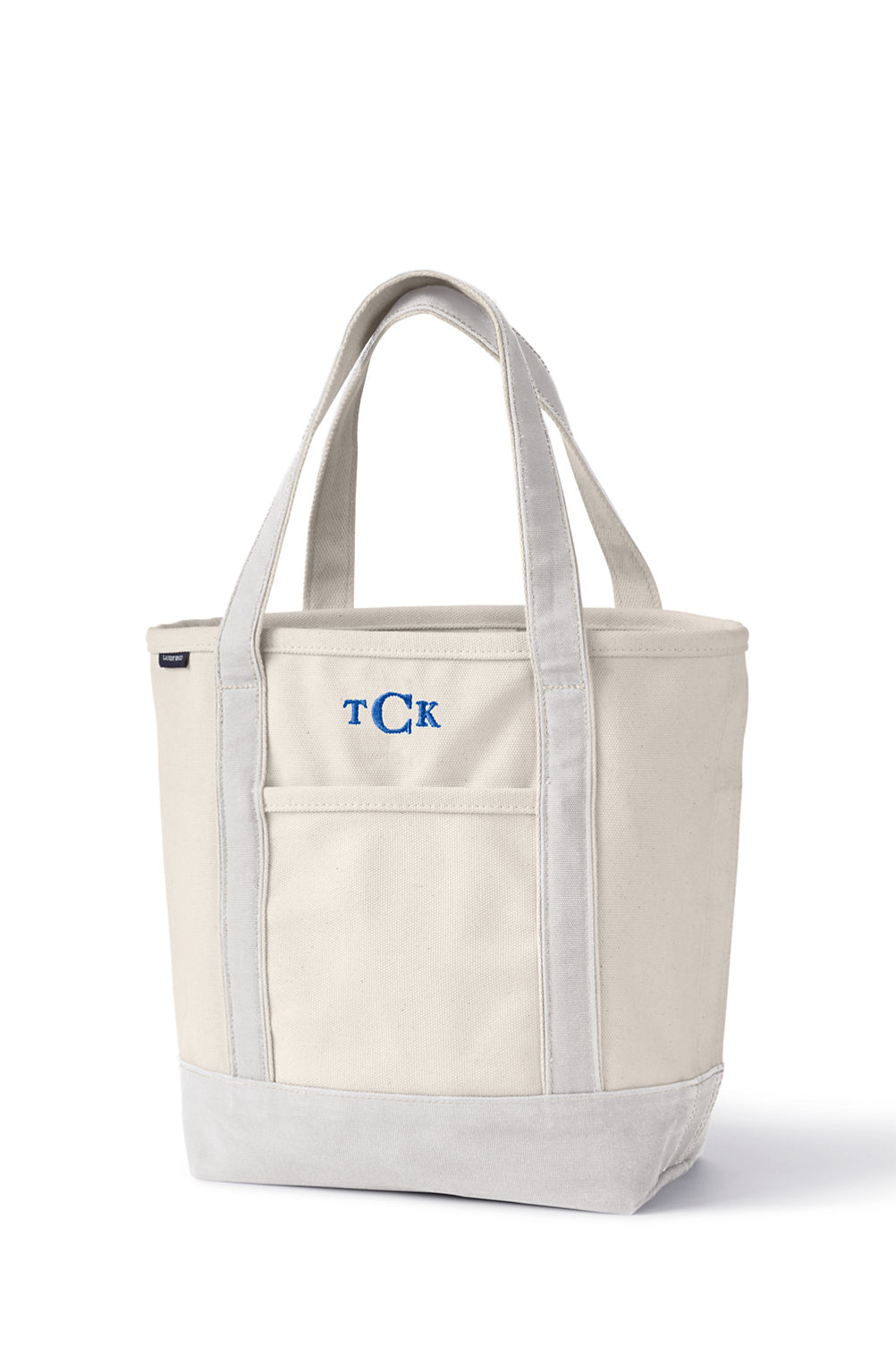 school uniform natural canvas tote bag from lands end
