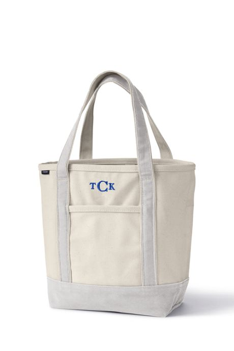 Medium Natural Open Top Canvas Tote Bag