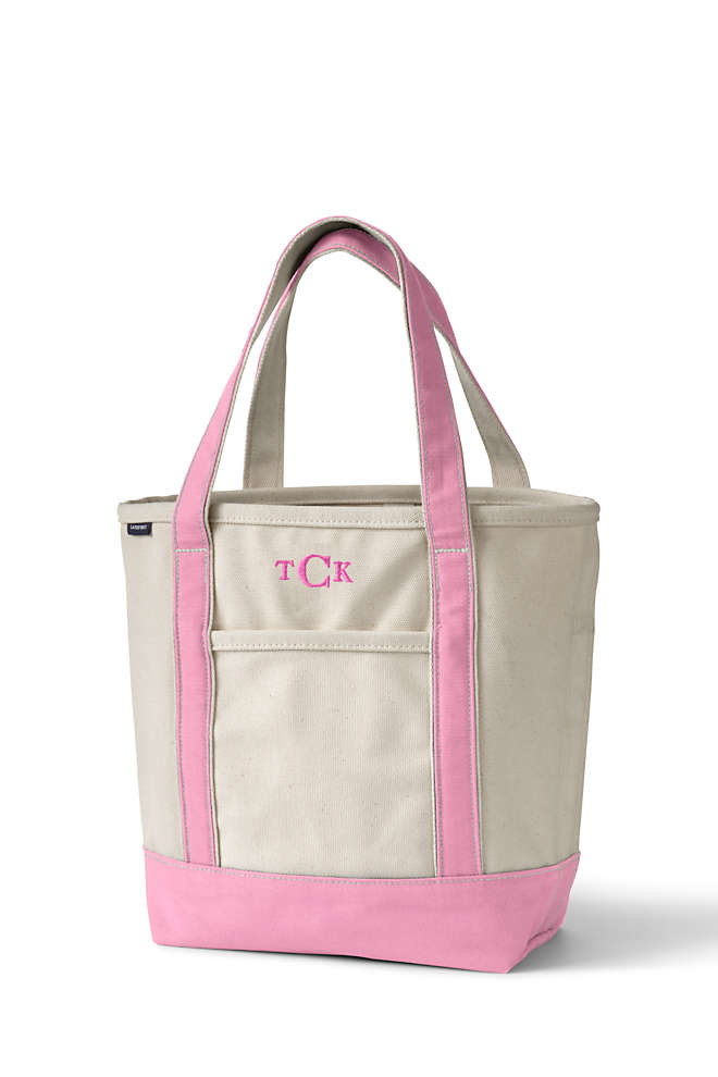 Medium Natural Open Top Canvas Tote Bag, Front