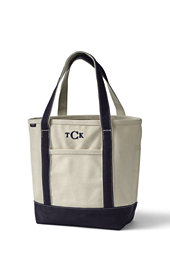 Medium Open Top Natural Canvas Tote Bag