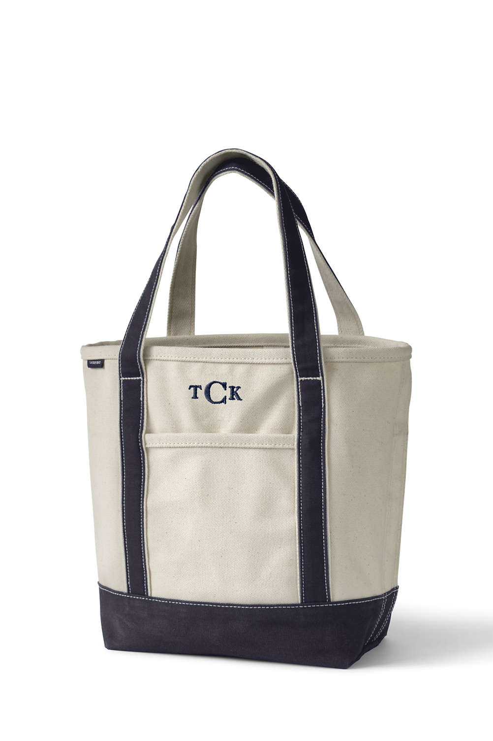 bd129af5b0 Open or Zip Top Natural Canvas Tote Bag from Lands' End