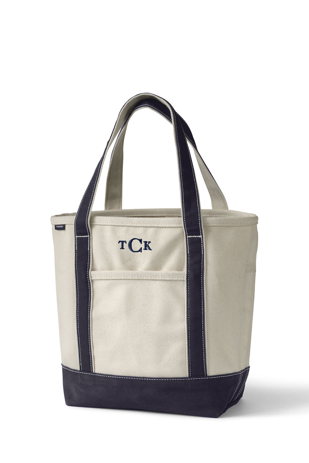 natural canvas tote bag from lands end