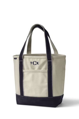 Canvas Cooler Tote Bag Lands End