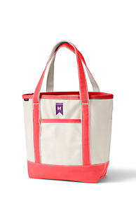 Open or Zip Top Natural Canvas Tote Bag. 11 Colors Available 981bf474dbd5b