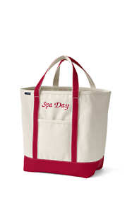 School Uniform Large Natural Open Top Canvas Tote Bag